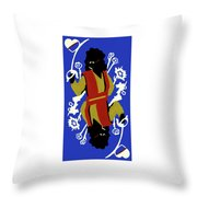 Card Hierarchy Queen Of Hearts Throw Pillow