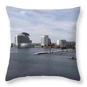 Cardiff Bay 3 Throw Pillow