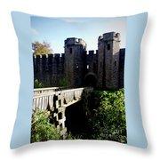 Cardiff Castle Gate Throw Pillow
