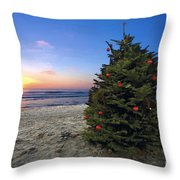 Cardiff Christmas Tree Throw Pillow