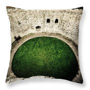 Cardiff Inner Keep Throw Pillow