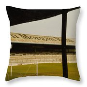 Cardiff - Ninian Park - East Stand Railway Side 1 - 1970s Throw Pillow