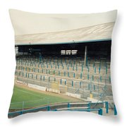 Cardiff - Ninian Park - East Stand Railway Side 2 - August 1991 Throw Pillow