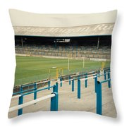 Cardiff - Ninian Park - East Stand Railway Side 3 - August 1991 Throw Pillow