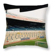 Cardiff - Ninian Park - East Stand Railway Side 5 - March 2004 Throw Pillow
