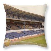 Cardiff - Ninian Park - West Stand 4 - October 1993 Throw Pillow