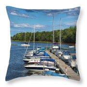 Cardigan Wharf Throw Pillow
