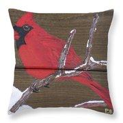 Cardinal 2 Throw Pillow