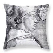 Cardinal Albrecht Of Brandenburg 1523 Throw Pillow