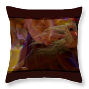 Cardinal And Abstract Throw Pillow