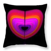 Cardinal Heart Throw Pillow