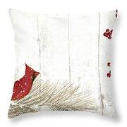 Cardinal Holiday IIi Throw Pillow