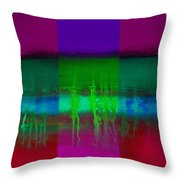 Cardinal Landscape Throw Pillow