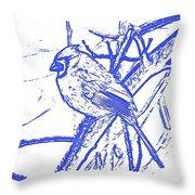 Cardinal Painted Throw Pillow