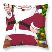 Cardinals Santa Claus Throw Pillow