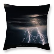Carefree Lightning Throw Pillow by Cathy Franklin