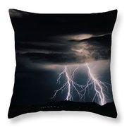 Carefree Lightning Throw Pillow