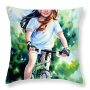 Carefree Summer Day Throw Pillow