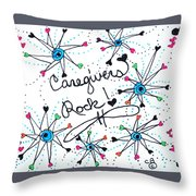 Caregivers Rock Throw Pillow