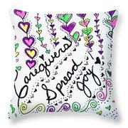 Caregivers Spread Joy Throw Pillow