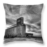 Cargill Sunset In B/w Throw Pillow