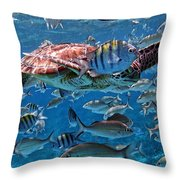 Caribbean Blue_12 Throw Pillow