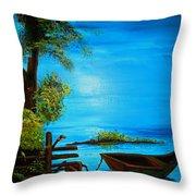 Caribbean Bueaty Throw Pillow