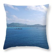 Caribbean Coastline Throw Pillow