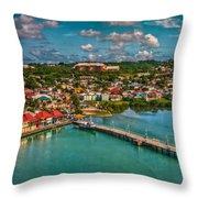 Caribbean Color Palette Throw Pillow
