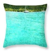 Caribbean Cruising Throw Pillow