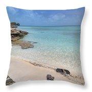Caribbean Flippin Flops Throw Pillow
