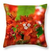 Caribbean Floral Surprise Throw Pillow