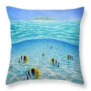 Caribbean Island Dream Throw Pillow