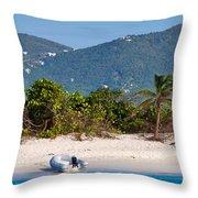 Caribbean Island Throw Pillow