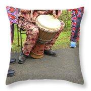 Caribbean Musicians. Throw Pillow