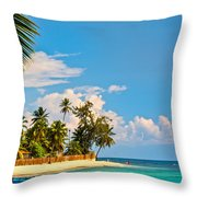 Caribbean Paradise Throw Pillow
