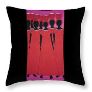 Caribbean Pink Throw Pillow