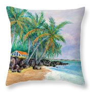 Caribbean Retreat Throw Pillow