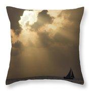 Caribbean Skies And Light 2 Throw Pillow