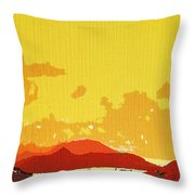 Caribbean Sky Throw Pillow