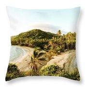 Caribbean Sunrise Throw Pillow