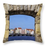 Caribbean View Throw Pillow
