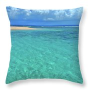Caribbean Water Throw Pillow by Scott Mahon