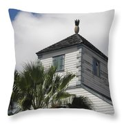 St. Maarten Welcome Throw Pillow