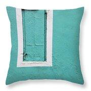 Caribbean Window Throw Pillow