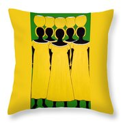 Caribbean Yellow Throw Pillow