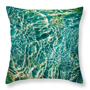Caribben Waters Throw Pillow