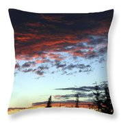 Cariboo Country Sunset   Throw Pillow