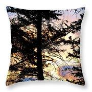 Cariboo District Sunset Throw Pillow