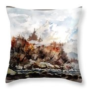 Cariboo Fall Throw Pillow